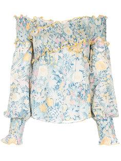 блузка с открытыми плечами и цветочным принтом  Alice Mccall