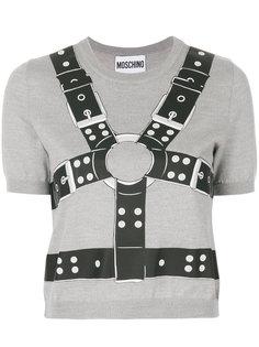 укороченный свитер с принтом Moschino