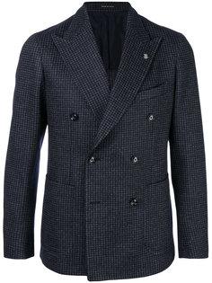 клетчатый двубортный пиджак Tagliatore
