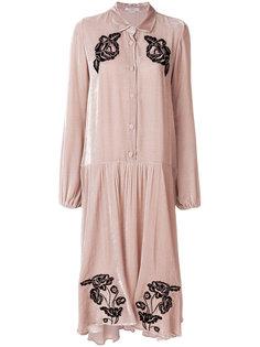 платье с цветочной вышивкой Vivetta