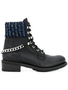 ботинки с твидовой отделкой Karl Lagerfeld