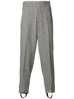брюки свободного кроя с вышивкой Z Zegna
