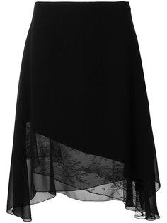асимметричная кружевная юбка Lanvin