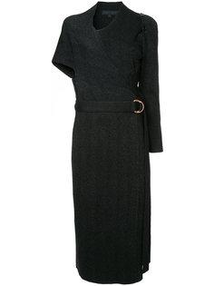 платье с запахом и поясом  Proenza Schouler