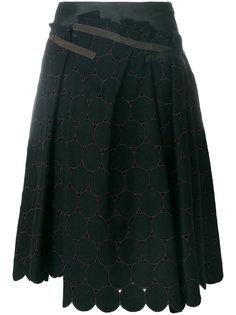 расклешенная юбка с неравномерным подолом Kolor