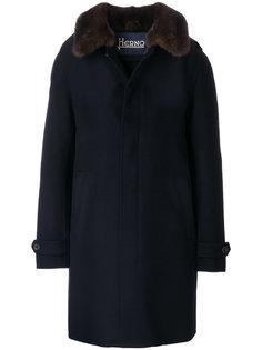 пальто с воротником из норки Herno