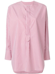 рубашка в полоску без воротника  Alberto Biani