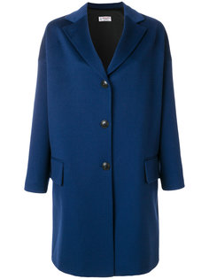 свободное однобортное пальто Alberto Biani