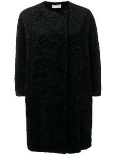 пальто из искусственного меха без воротника  Alberto Biani