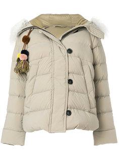 дутая куртка с меховой оторочкой Peuterey