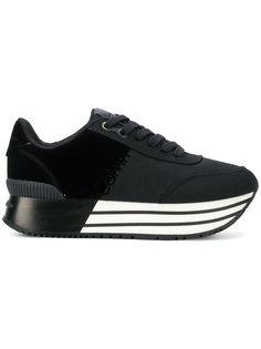 кроссовки на платформе в полоску Calvin Klein Jeans
