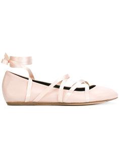 балетки с ленточной шнуровкой Lanvin