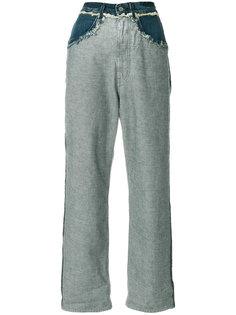 укороченные джинсы с боковыми панелями Golden Goose Deluxe Brand