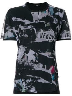 футболка с перфорацией и принтом  Versus