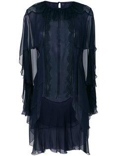 блузка с оборками Alberta Ferretti