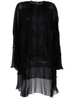 асимметричная блузка с оборками  Alberta Ferretti