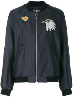 куртка бомбер на молнии с вышивкой Closed