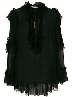блузка с оборкой  Zimmermann