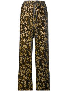 прямые брюки с узором Aries