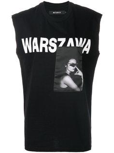 топ без рукавов с принтом Warszawa Misbhv