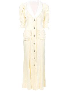 расклешенное платье на пуговицах Alessandra Rich