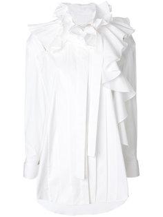 рубашка с оборкой и вырезами  Monse