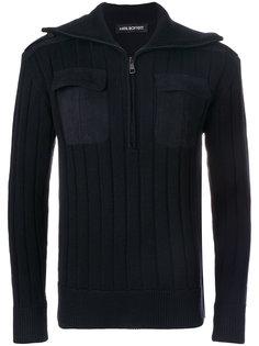 свитер в рубчик с застежкой-молнией Neil Barrett