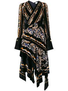 асимметричное бархатное платье Peter Pilotto