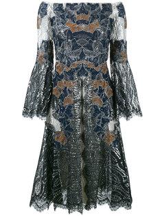 кружевное платье с открытыми плечами Jonathan Simkhai