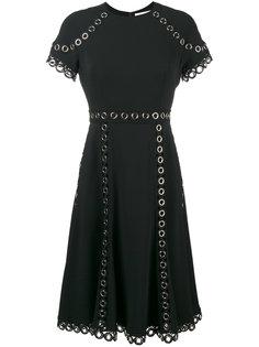 платье с короткими рукавами с люверсами Jonathan Simkhai