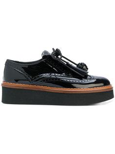туфли на платформе с бахромой Tods Tod`S