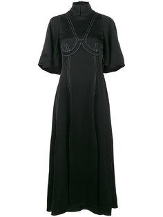 платье Noble с высокой горловиной и короткими рукавами Ellery