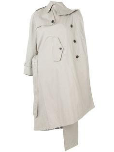 пальто-тренч асимметричного кроя Balenciaga