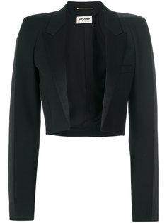 укороченный пиджак с заостренными лацканами Saint Laurent