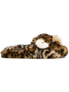 слиперы с леопардовым узором Dolce & Gabbana