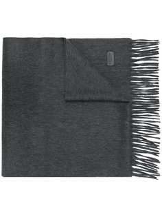 трикотажный шарф с бахромой Saint Laurent