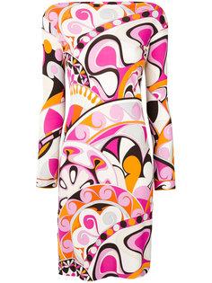 платье с длинными рукавами с принтом Emilio Pucci