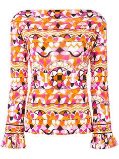 блузка с расклешенными манжетами Emilio Pucci