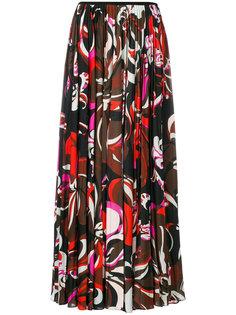 плиссированная юбка с принтом Emilio Pucci