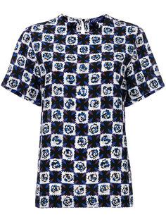 клетчатая футболка Emilio Pucci