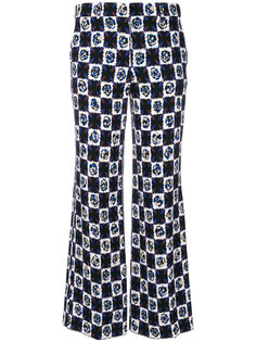printed cropped flared trousers Emilio Pucci