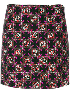 юбка с цветочным принтом Emilio Pucci