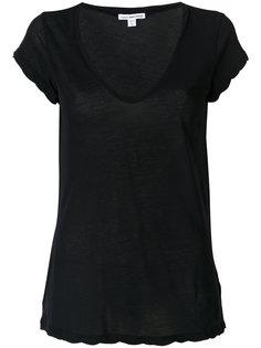 футболка с вырезом-ковш James Perse