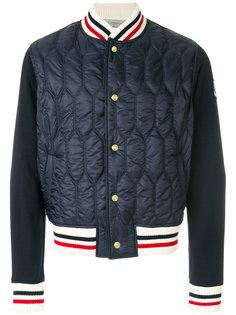 стеганая куртка бомбер с отделкой Moncler Gamme Bleu