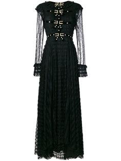 декорированное кружевное вечернее платье Philosophy Di Lorenzo Serafini