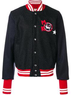 университетская куртка с заплаткой с логотипом Maison Kitsuné