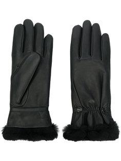 перчатки с меховой отделкой Agnelle