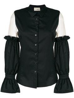 рубашка с оборками и прозрачными деталями Elaidi