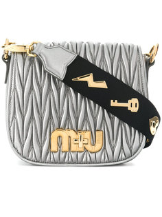 сумка на плечо с логотипом Miu Miu