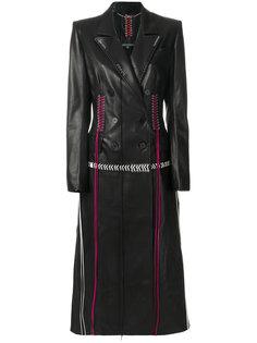 двубортное длинное пальто Alexander McQueen